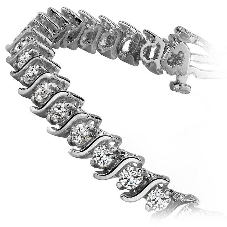 S-Link Diamond Bracelet in White Gold | 02