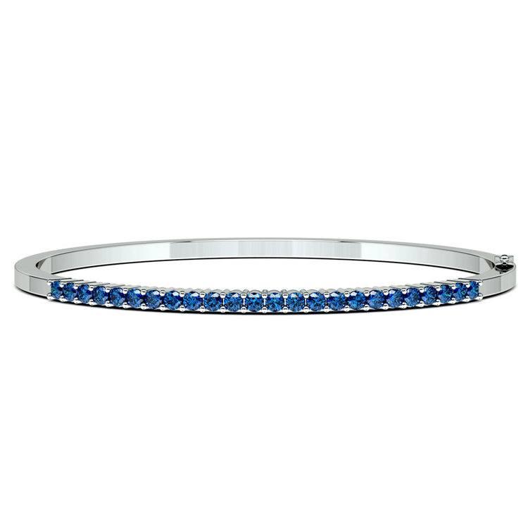 Sapphire Bangle Bracelet in White Gold  | 03