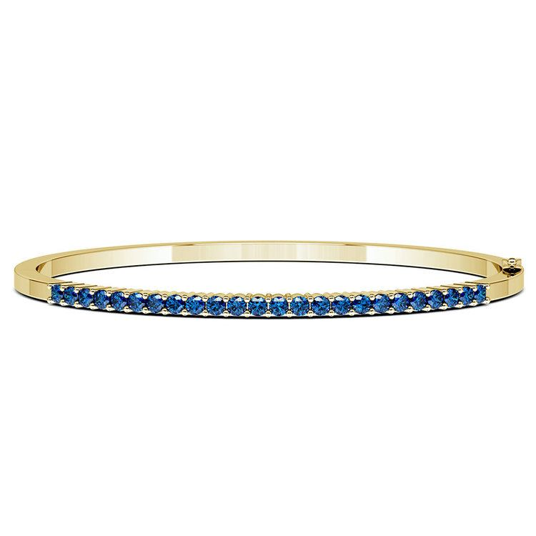 Sapphire Bangle Bracelet in Yellow Gold  | 03