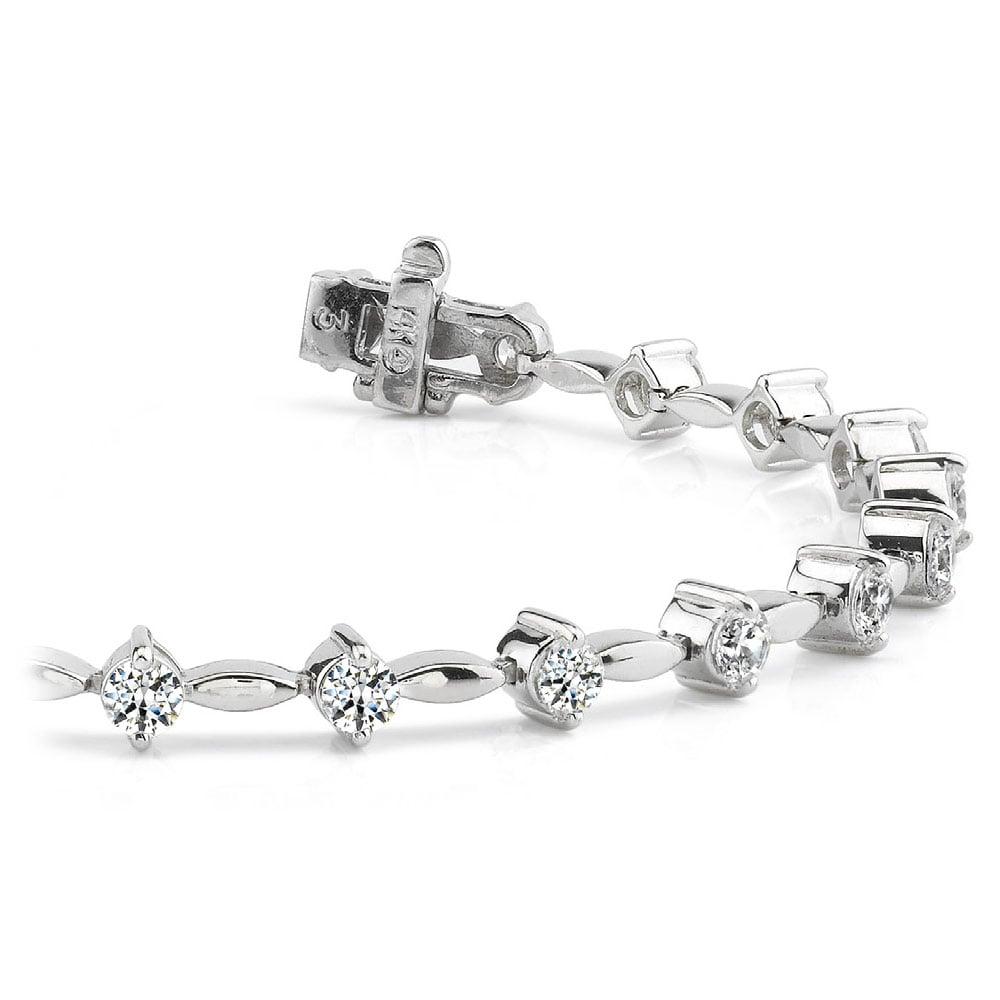 Teardrop Diamond Bracelet In White Gold