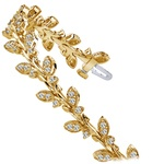 Vintage Leaf Diamond Bracelet in Yellow Gold (2 ctw) | Thumbnail 01