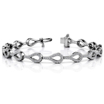 Water Drop Diamond Bracelet in White Gold (1 1/2 ctw) | Thumbnail 01