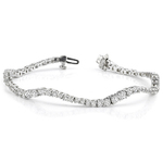 Journey Wave Diamond Bracelet in White Gold (4 ctw) | Thumbnail 01