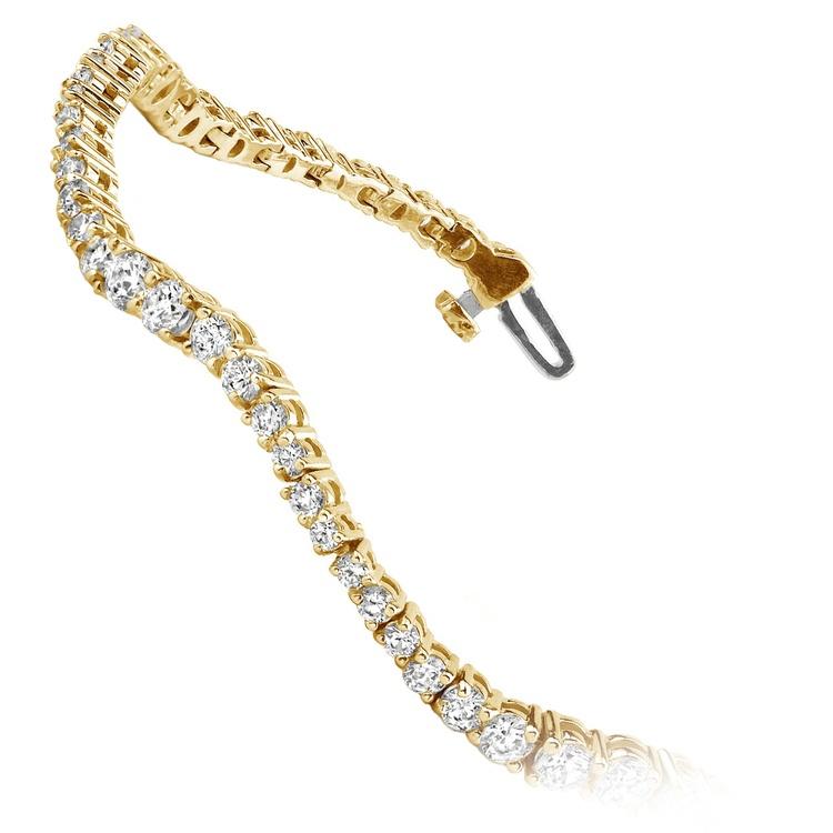Journey Wave Diamond Bracelet in Yellow Gold (4 ctw) | 02