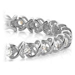 XO Diamond Bracelet in White Gold (1 ctw) | Thumbnail 01