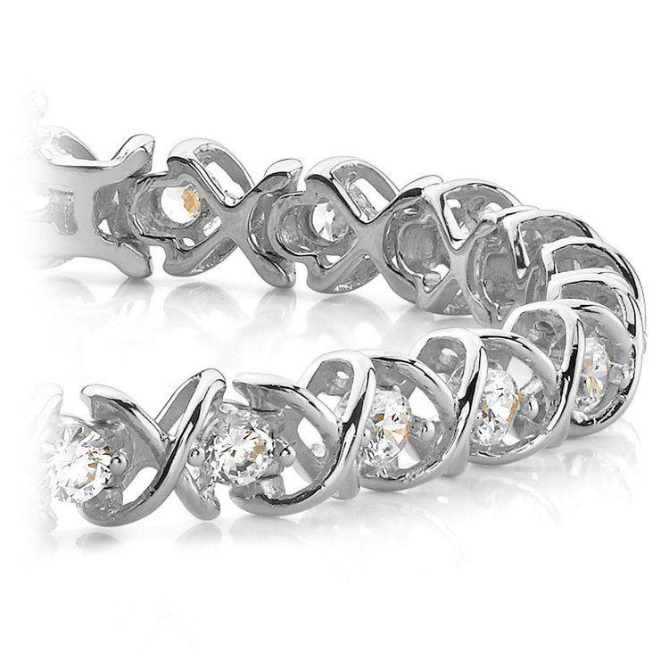 XO Diamond Bracelet in White Gold (2 ctw)   01