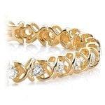 XO Diamond Bracelet in Yellow Gold (2 ctw)   Thumbnail 01