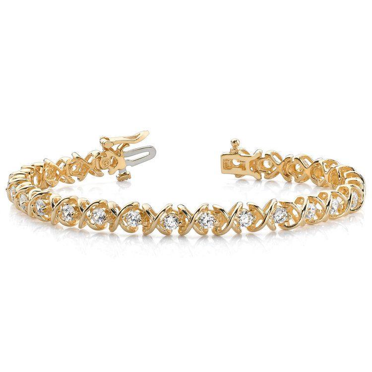 XO Diamond Bracelet in Yellow Gold (2 ctw) | 03