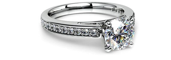 Cathedral White Gold Preset Engagement Rings