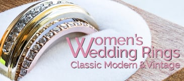 Classic, Modern, and Vintage Women's Wedding Rings