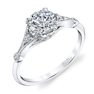 Art Deco Hera Diamond Engagement Ring in White Gold by Parade