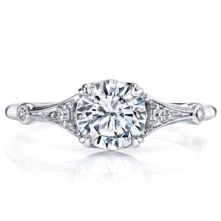 Art Deco Hera Diamond Engagement Ring in White Gold by Parade | 02