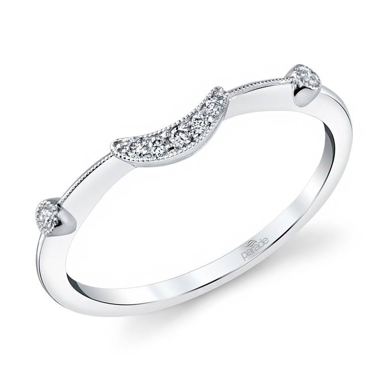 Art Deco Hera Diamond Wedding Ring in White Gold by Parade | Zoom