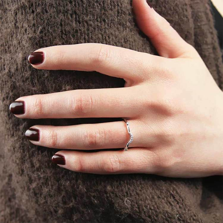 Art Deco Hera Diamond Wedding Ring in White Gold by Parade   02