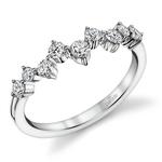 Asymmetric Chevron Diamond Wedding Ring in Platinum by Parade | Thumbnail 01