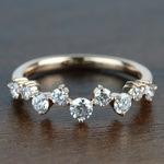 Asymmetric Chevron Diamond Wedding Ring in Rose Gold by Parade   Thumbnail 02