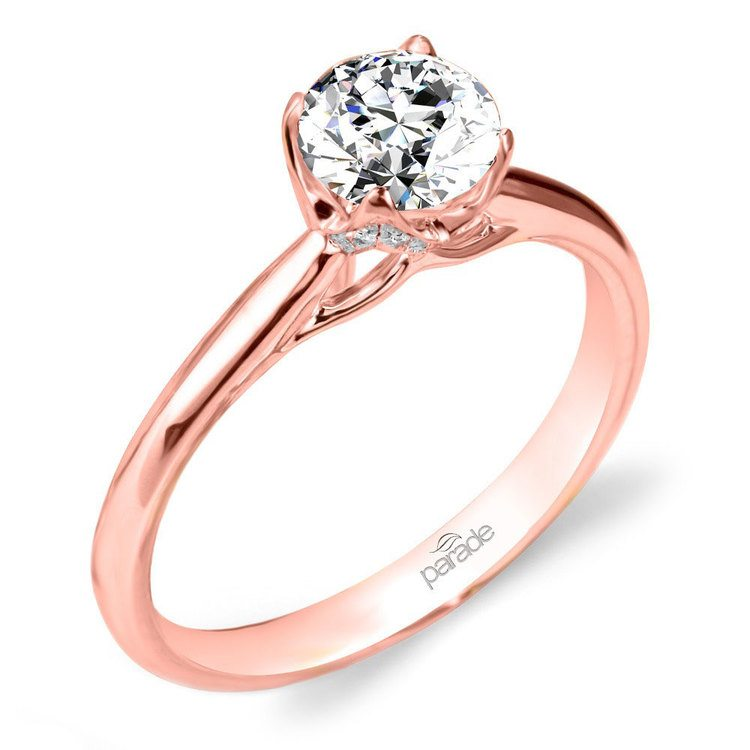 Blossom Diamond Engagement Ring in Rose Gold by Parade | 01