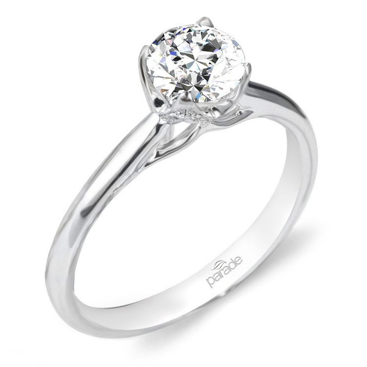 Blossom Diamond Engagement Ring in White Gold by Parade | 01