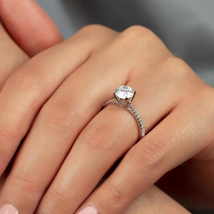Blossom Diamond Engagement Ring in White Gold by Parade   02