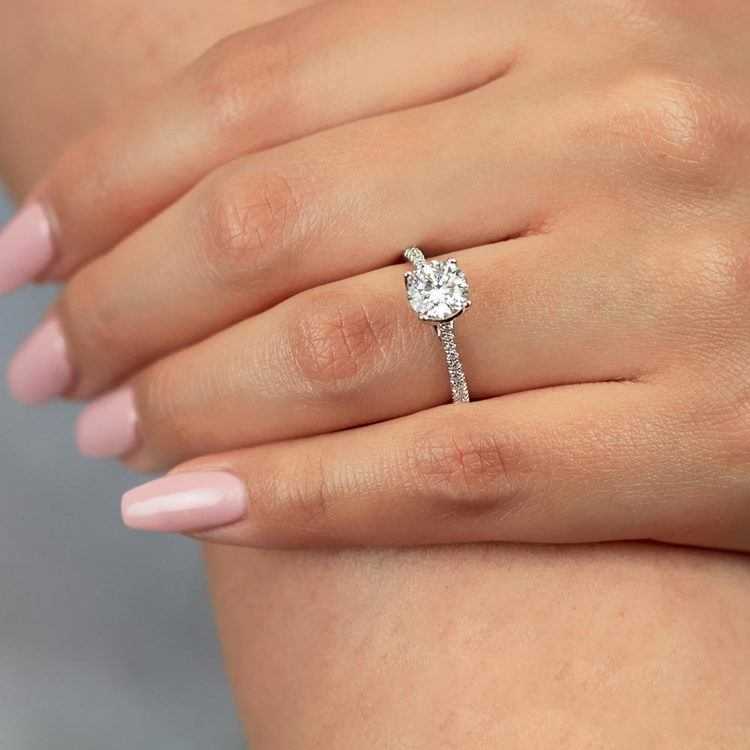 Blossom Diamond Engagement Ring in White Gold by Parade   03