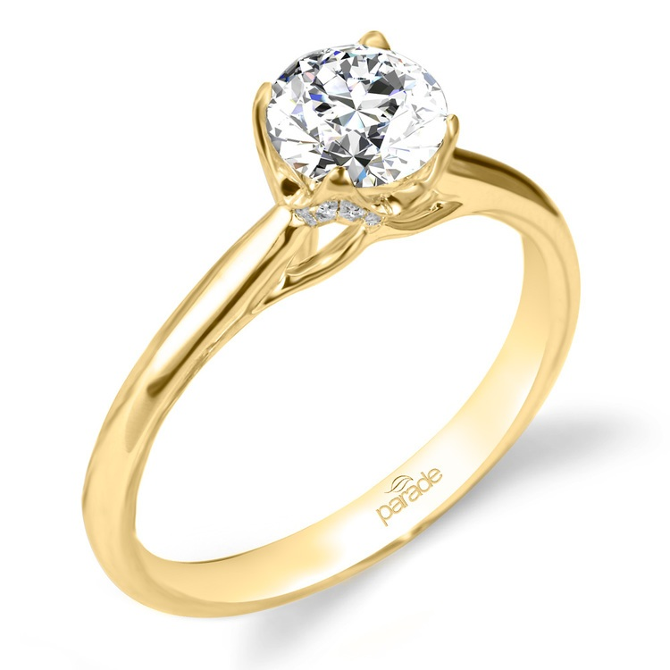 Blossom Diamond Engagement Ring in Yellow Gold by Parade | 01