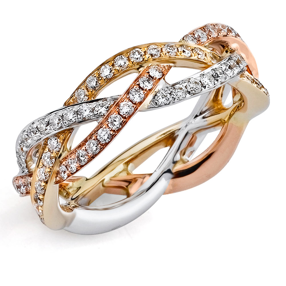Diamond Eternity Bands Rose Gold
