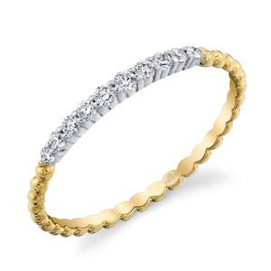 Charites Diamond Wedding Ring in White and Yellow Gold by Parade