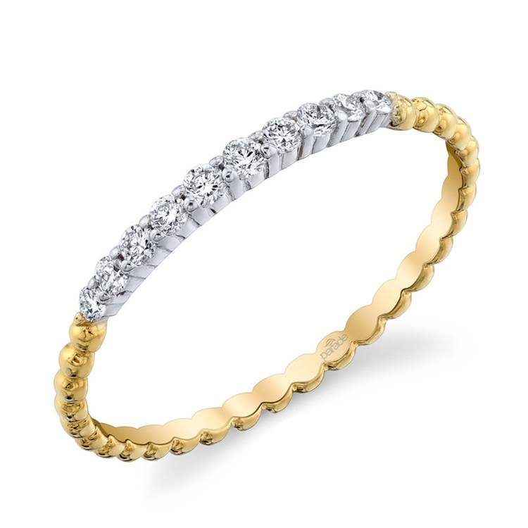 Charites Diamond Wedding Ring in White and Yellow Gold by Parade | 01