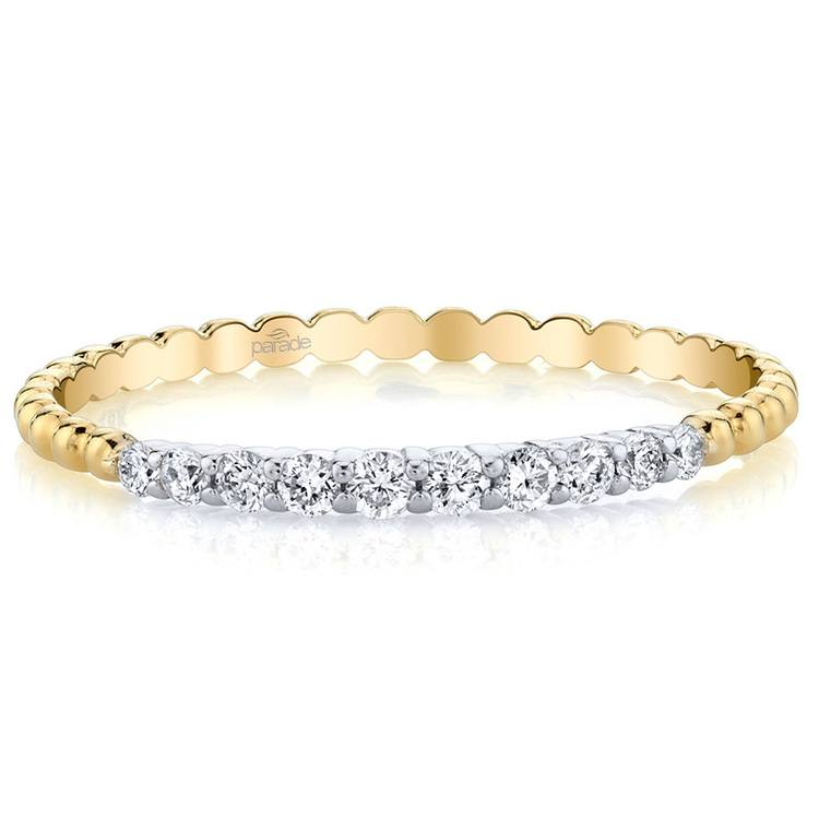 Charites Diamond Wedding Ring in White and Yellow Gold by Parade | 02
