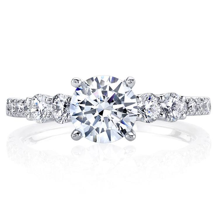 Classic Bridal Five Stone Diamond Ring in White Gold by Parade | 02
