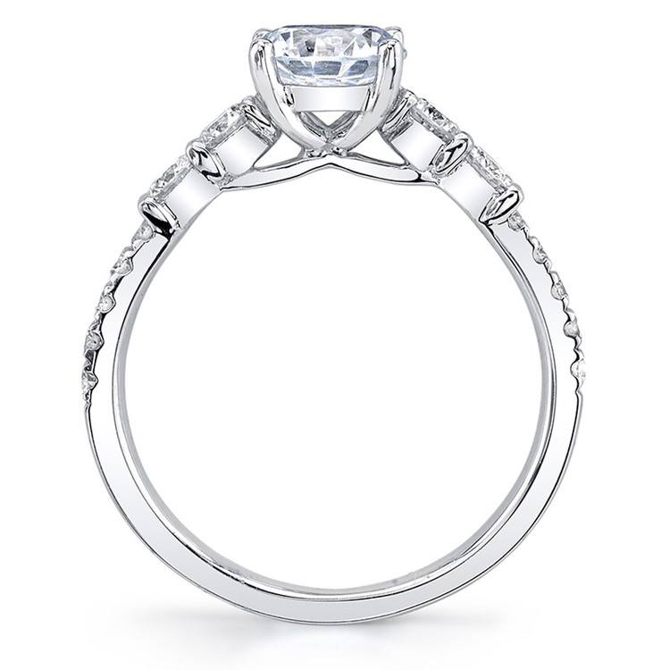 Classic Bridal Five Stone Diamond Ring in White Gold by Parade | 03