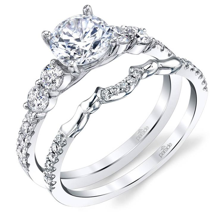 Classic Bridal Five Stone Diamond Ring in White Gold by Parade | 04