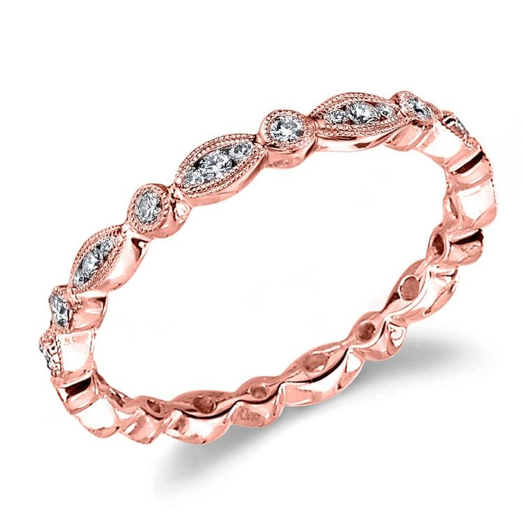 Classic Charities Diamond Eternity Wedding Ring In Rose Gold By Parade | 01