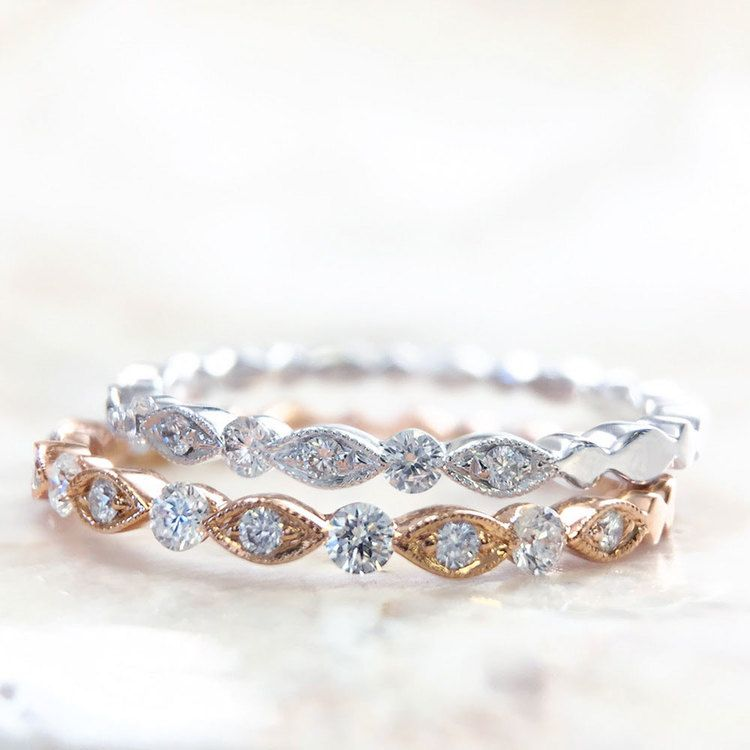 Classic Charities Diamond Eternity Wedding Ring In Rose Gold By Parade | 02