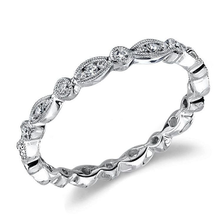 Classic Charities Diamond Eternity Wedding Ring In White Gold By Parade | 01