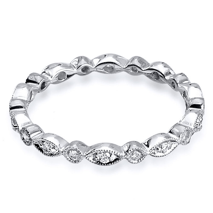 Classic Charities Diamond Eternity Wedding Ring In White Gold By Parade | 02