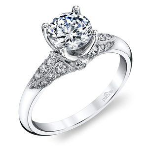Classic Hera Milgrain Cathedral Diamond Engagement Ring In White Gold By Parade