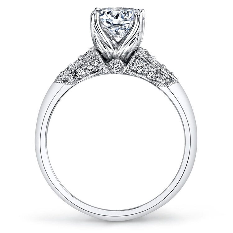 Classic Hera Milgrain Cathedral Diamond Engagement Ring In White Gold By Parade | 03