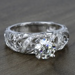 Climbing Milgrain Diamond Engagement Ring in White Gold by Parade | Thumbnail 02