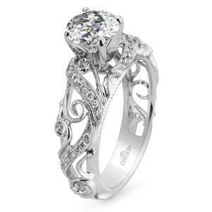 Climbing Milgrain Diamond Engagement Ring in White Gold by Parade