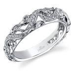 Climbing Milgrain Matching Diamond Wedding Ring in White Gold by Parade | Thumbnail 01