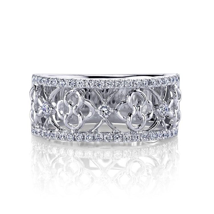 Clover Lattice Diamond Ring in Platinum by Parade | 01