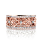 Clover Lattice Diamond Ring in Rose Gold by Parade | Thumbnail 01
