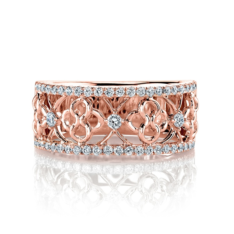 Clover Lattice Diamond Ring in Rose Gold by Parade | 01