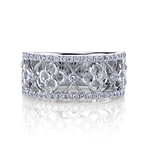 Clover Lattice Diamond Ring in White Gold by Parade | Thumbnail 01