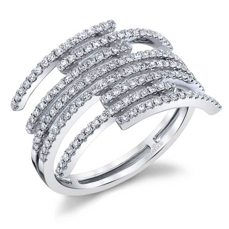 Dazzling Diamond Fashion Statement Ring in White Gold by Parade | 01