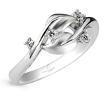 Diamond Dewdrop Wedding Band in Platinum by Parade | Thumbnail 01