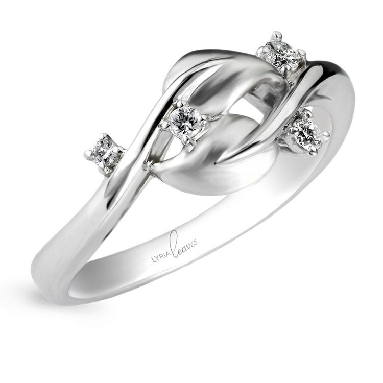 Diamond Dewdrop Wedding Band in White Gold by Parade | 01