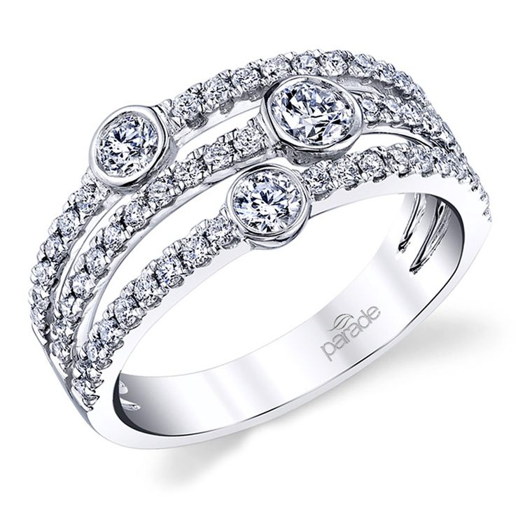 Double Split Diamond Band in White Gold by Parade | 01