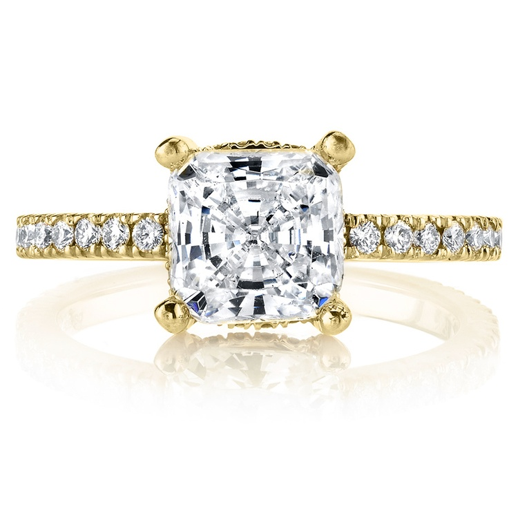 Diamond Encrusted Pave Engagement Ring in Yellow Gold by Parade | 02
